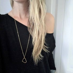 Jewelry - 4 for $25 long simple heart necklace